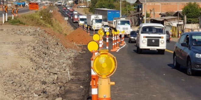 Desvio para obras na ERS-118 é liberado para trânsito em Sapucaia do Sul