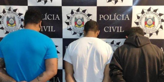 Trio que roubou malote de casa lotérica é preso em Gramado